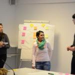 Elisabeta Moldovan, Inclusion Europe board member, giving a presentation