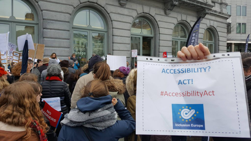 Inclusion Europe supports the protest for a meaningful Accessibility Act