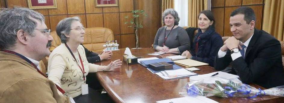 Activists meeting with the Romanian Prime Minister Sorin Grindeanu.
